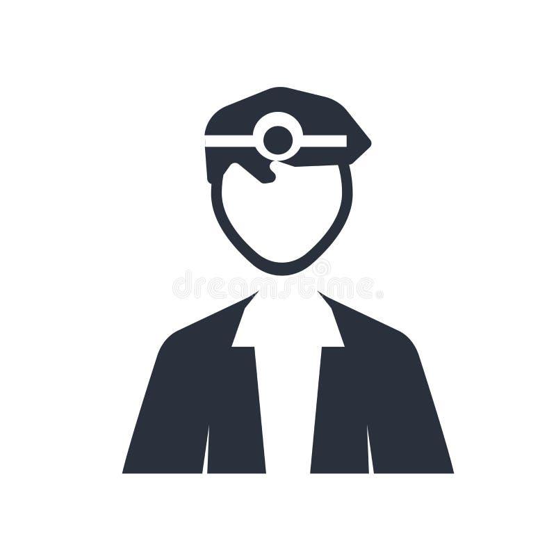Lekarza medycynego specjalisty ikony wektoru znak i symbol odizolowywający na białym tle, lekarza medycynego specjalisty logo poj ilustracja wektor
