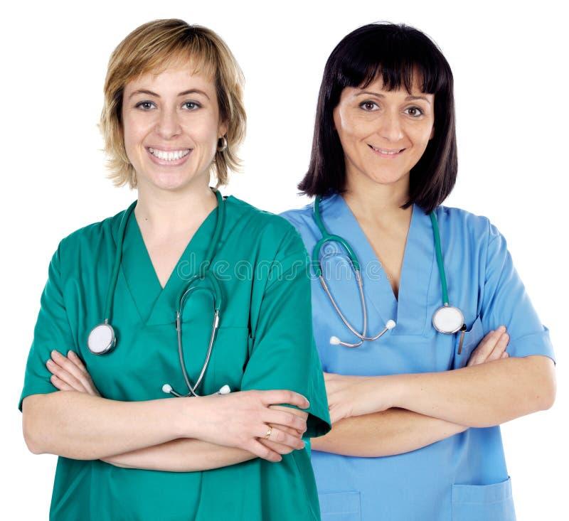 lekarze dwie kobiety. obraz royalty free