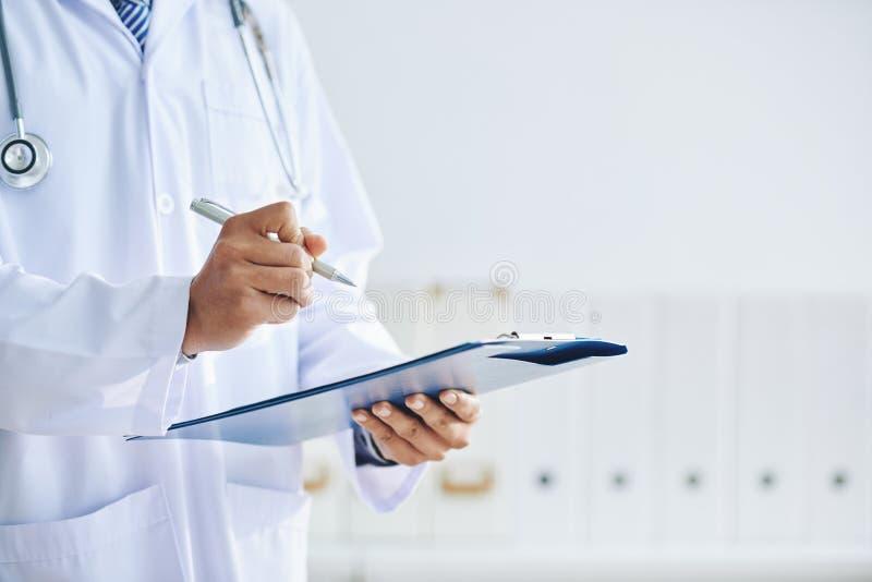 lekarzy do notatek zdjęcia royalty free