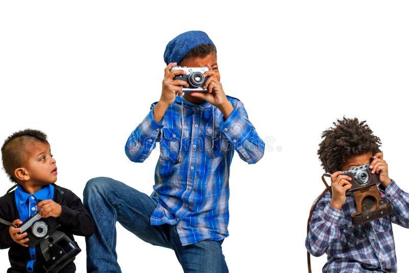 Lekcja fotografie dla dzieci zdjęcia royalty free