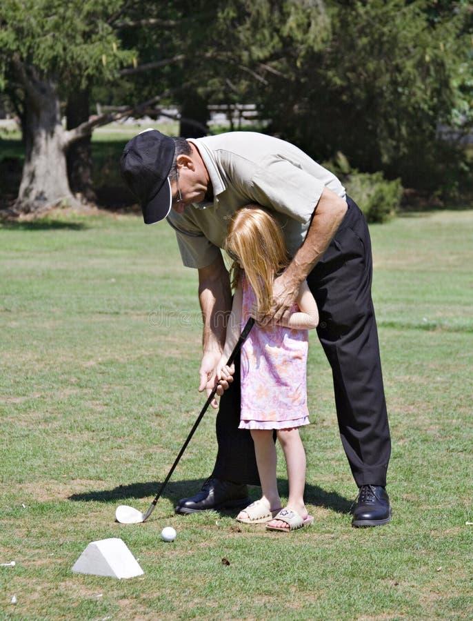 lekcja golfowa zdjęcie stock