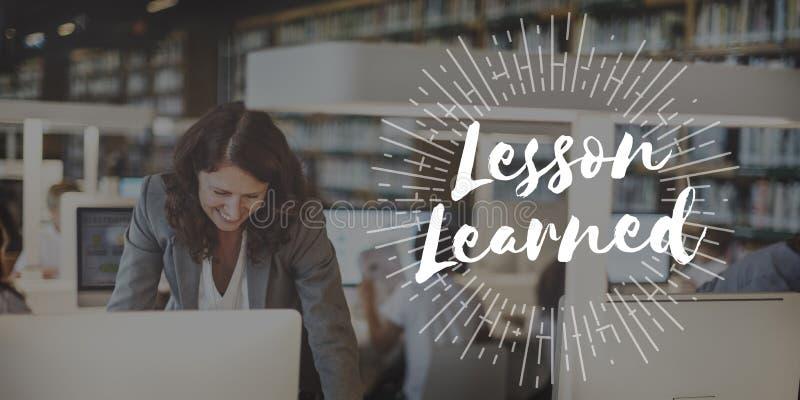 Lekcyjny Uczył się Kształci Uczy się wiedzy edukację Uczy się Concep zdjęcie stock