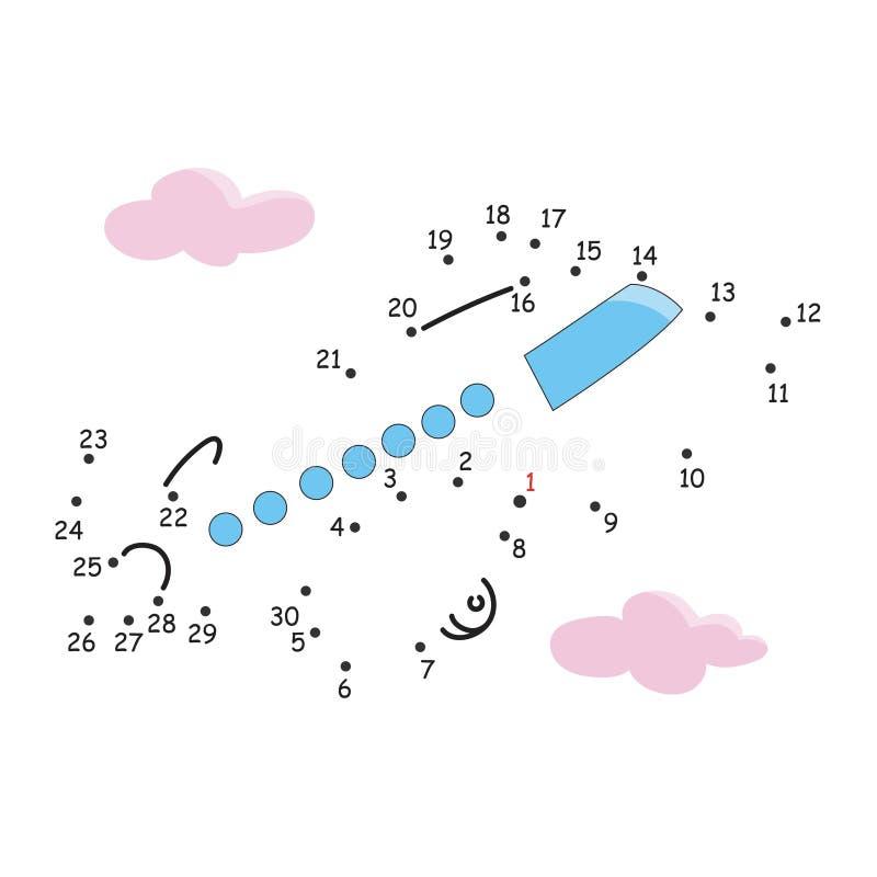 Leken av punkterna, flygplanet arkivbild