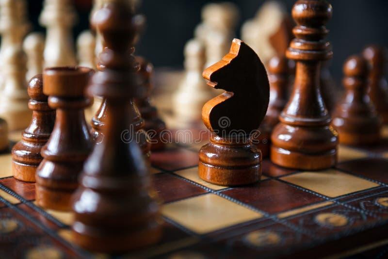 Leken av schacket royaltyfria foton