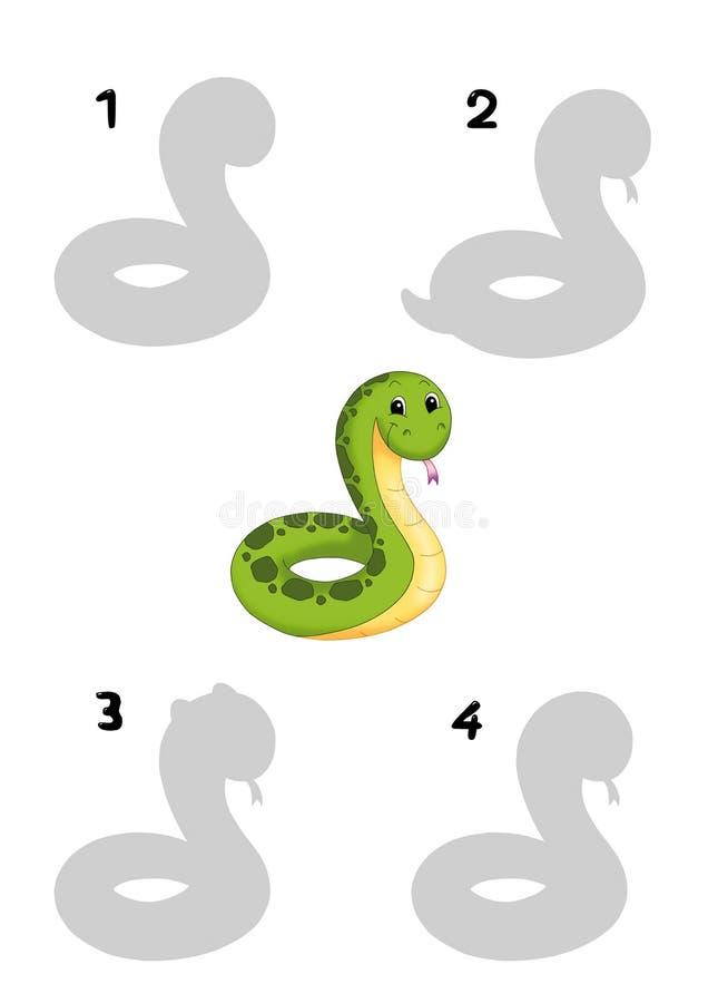 Leken av skuggorna, orm fotografering för bildbyråer
