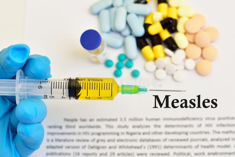 Leki dla odra wirusa traktowania obrazy stock