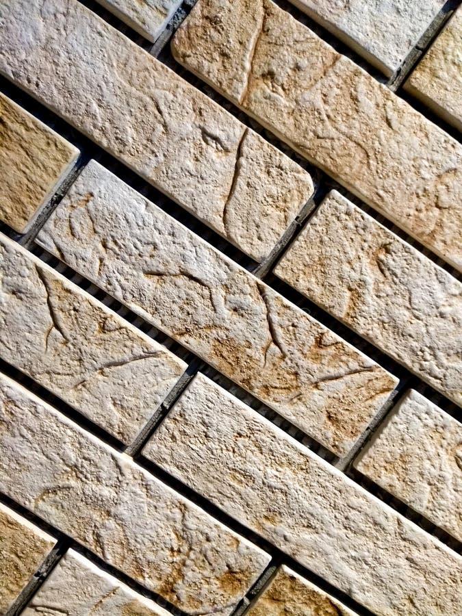 Lekka ściana z cegieł, tło, klinkier zdjęcie stock