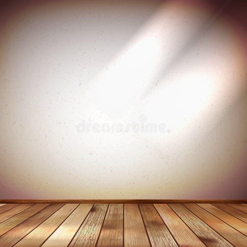 Lekka ściana z punkt iluminacją. EPS 10 ilustracja wektor