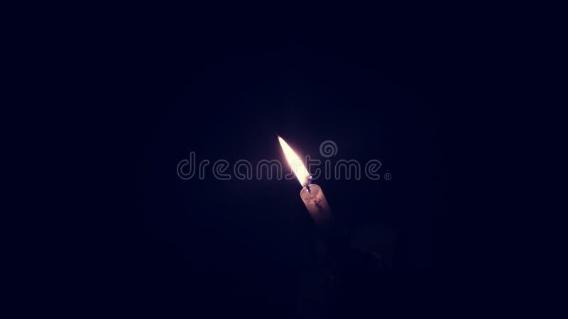 Lekka candel noc fotografia stock