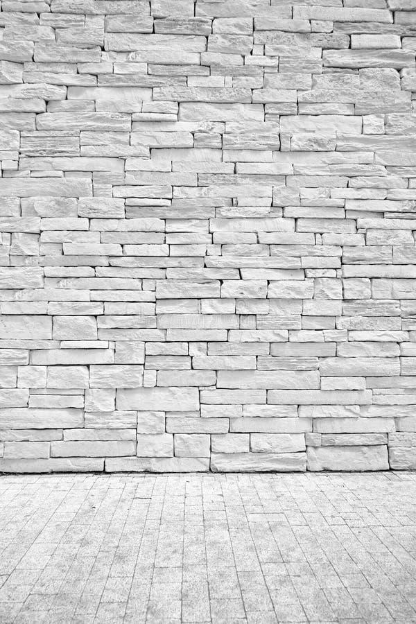 Lekka loft ściana kamienni bloki z podłoga powierzchnią obraz stock
