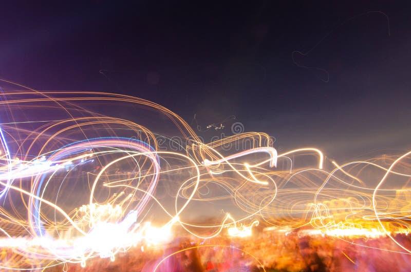 Lekka plama przy nocą zdjęcia stock