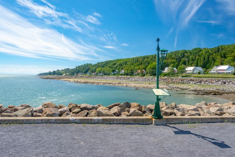Lekka poczta na StLawrence rzece, Quebec zdjęcia royalty free
