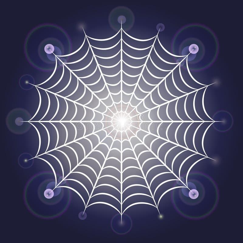 Lekka rozjarzona pająk sieć royalty ilustracja