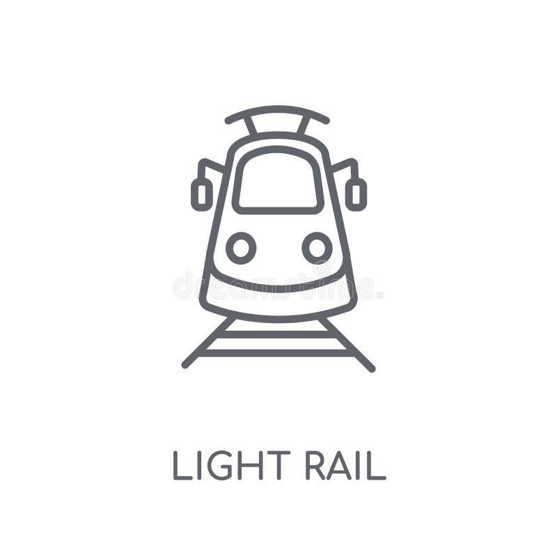 lekka sztachetowa liniowa ikona Nowożytny konturu światła poręcza logo pojęcie o ilustracja wektor