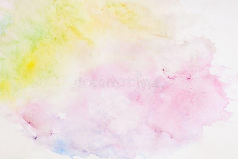 Lekka tło papieru tekstura w miękkich cieniach wiosna barwi w plama stylu akwarela abstrakcyjna ilustracji