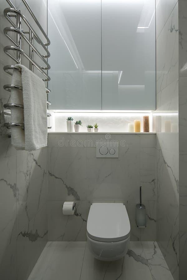 Lekka toaleta w nowożytnym stylu obrazy stock
