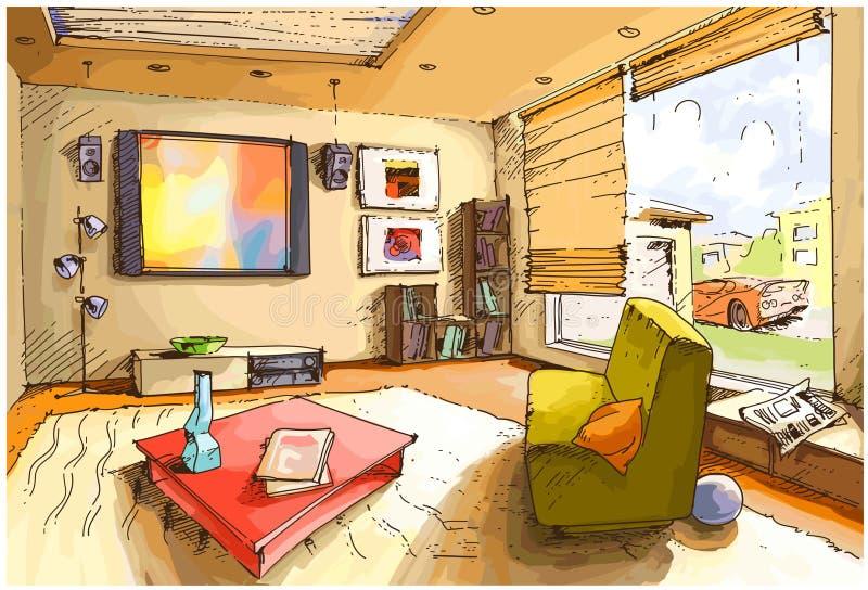 Lekki żywy pokój royalty ilustracja