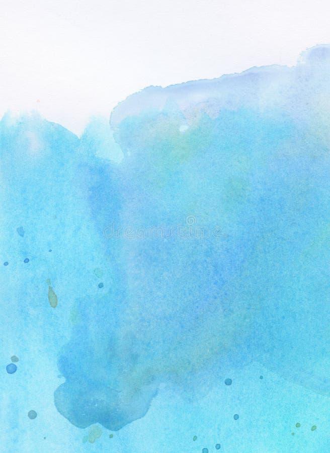 Lekki abstrakcjonistyczny błękitny, malujący, przeciek akwareli tło dla teksta na wierzchołku ilustracja wektor