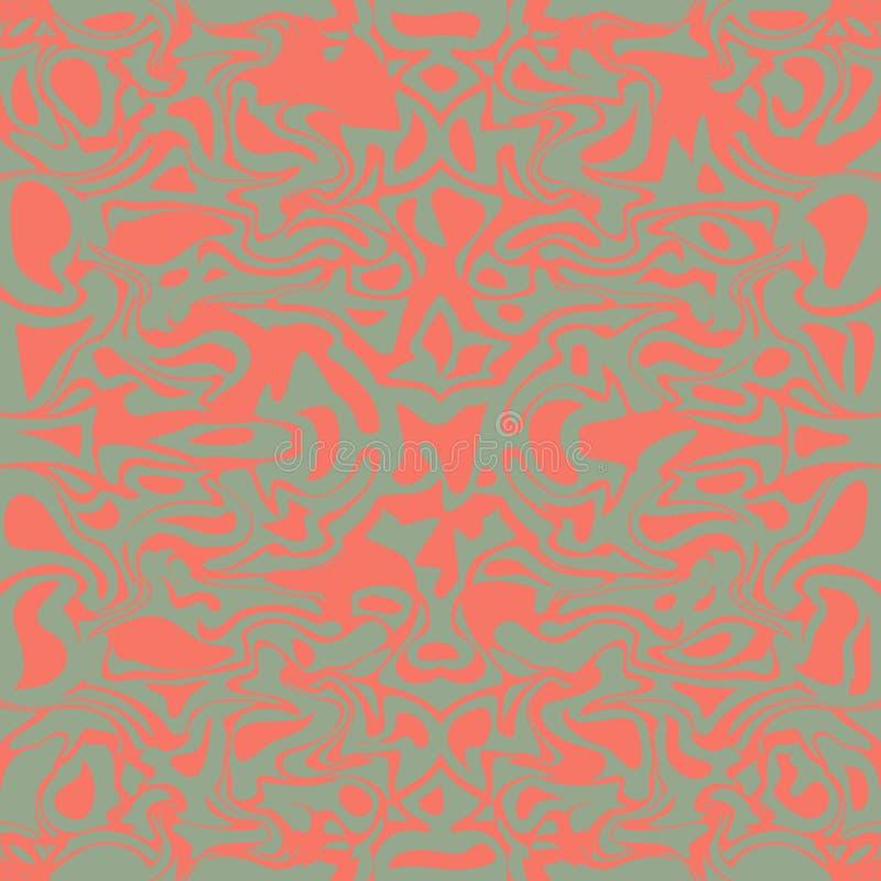 Lekki beż i różowa bezszwowa wektorowa tekstura, marmurowa imitacja, wielostrzałowa tekstura, kamień, granit powierzchnia, dachów royalty ilustracja