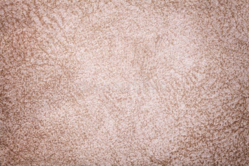 Lekki beżowy puszysty tło miękka część, wełnisty płótno Tekstura tekstylny zbli?enie obrazy royalty free