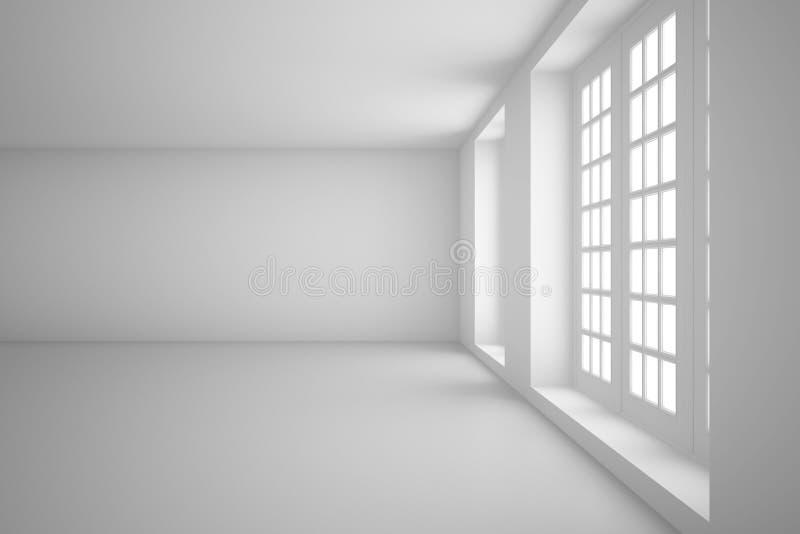 Lekki biały pokój ilustracji