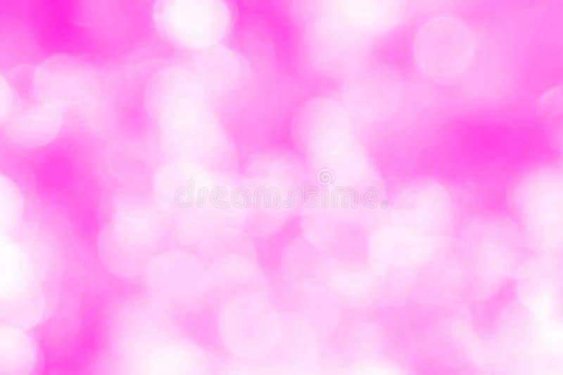 Lekki bokeh na różowym tło abstrakcie fotografia royalty free