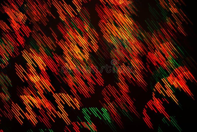 Lekki bokeh wzór geometryczni elementy na ciemnym tle zdjęcia stock
