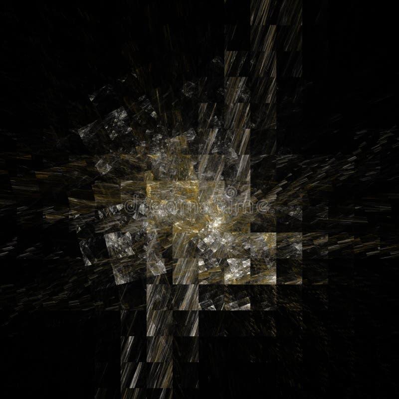 Lekki brudno- pomarańczowy cyfrowy fractal ilustracja wektor