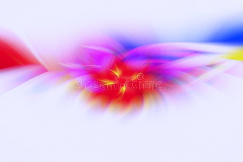 Lekki deseniowy fractal ilustracji t?o jarzeniowy ogień ilustracja wektor