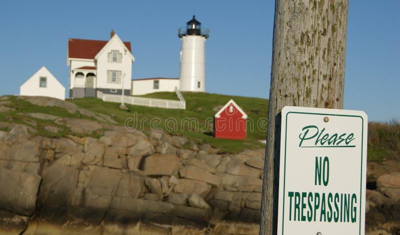 Lekki dom w Maine przy zmierzchem fotografia stock