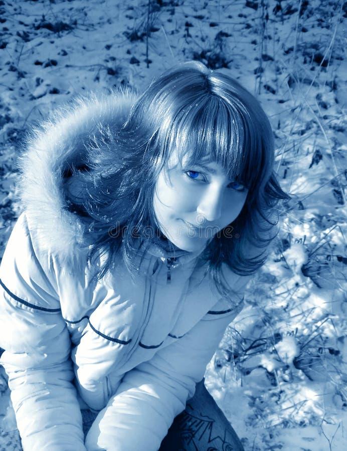 lekki dziewczę mistyczne zdjęcie stock