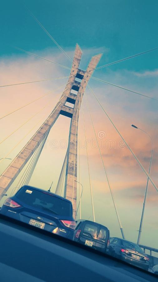 The Lekki-Ikoyi Link Bridge royalty free stock images