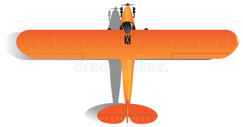 Lekki jednosilnikowy samolot ilustracja wektor