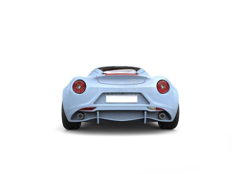 Lekki nieba błękita sportów nowożytny luksusowy samochód - tylny widok ilustracji