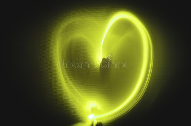 Lekki obraz serce w białym ściennym tle dla valentines dnia obrazy stock