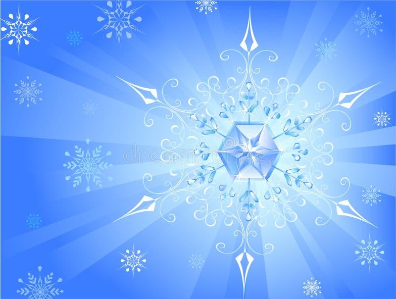 lekki płatek śniegu royalty ilustracja