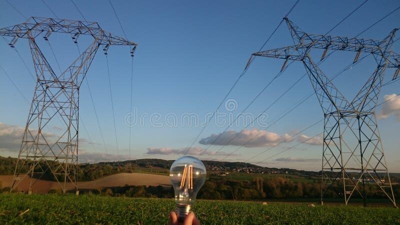 Lekki postęp z elektrycznością obrazy royalty free