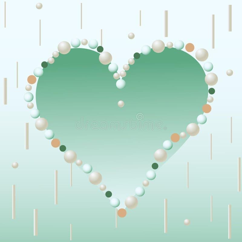 Lekki powiewny serce miłość od koralików ilustracji