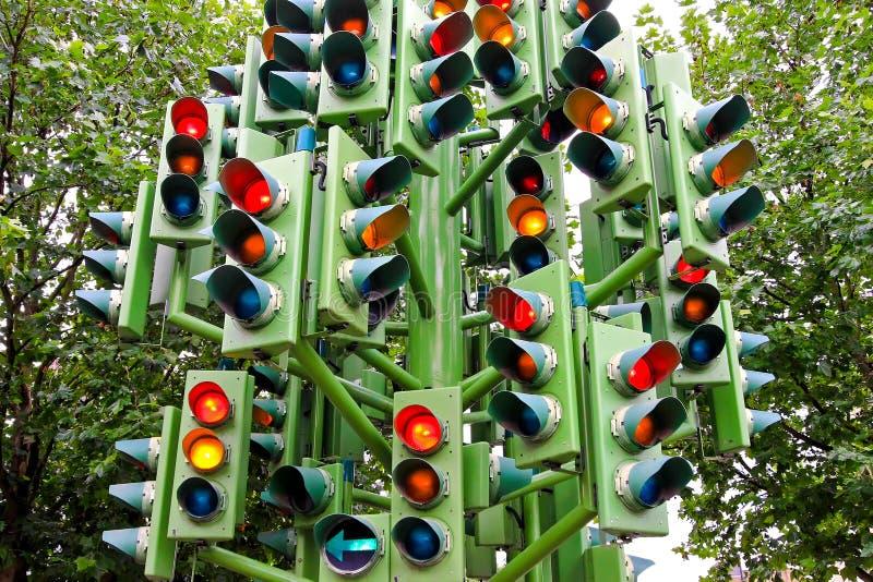 lekki ruch drogowy obrazy stock