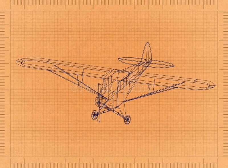 Lekki samolot - Retro projekt ilustracja wektor
