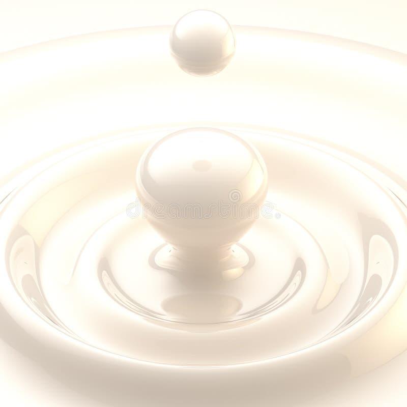 Lekki tło: śmietanki lub mleka ciecza kropla ilustracja wektor