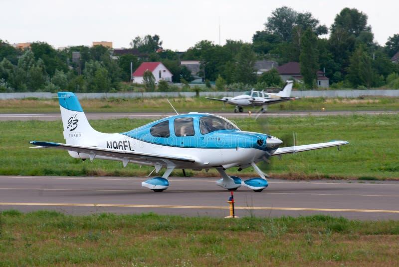 Lekki turbośmigłowy samolot zdjęcia stock
