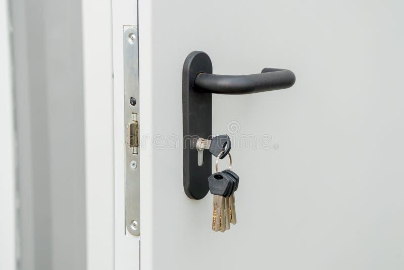 Lekki wejściowy drzwi z handl zdjęcie royalty free