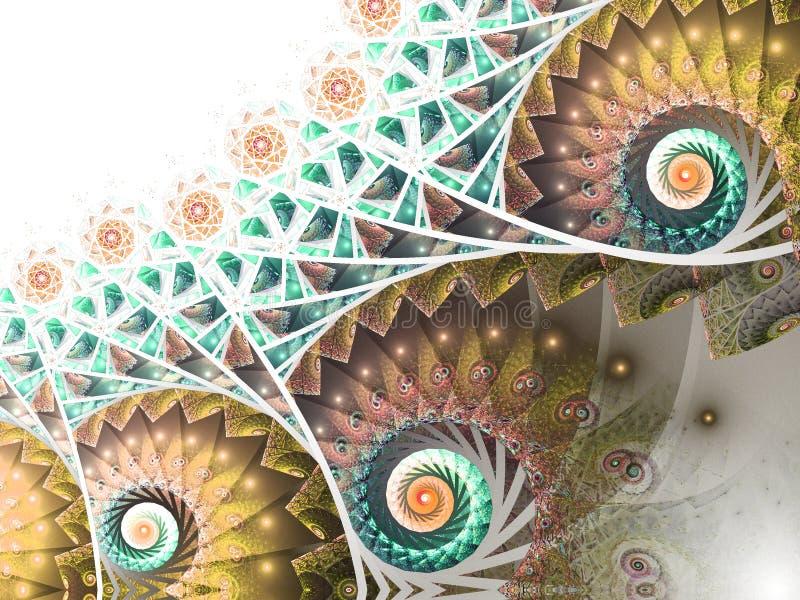 Lekkie kolorowe fractal spirale ilustracji