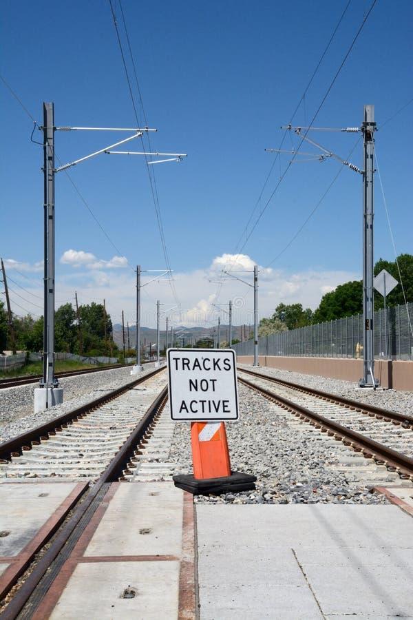lekkie linie kolejowe fotografia stock