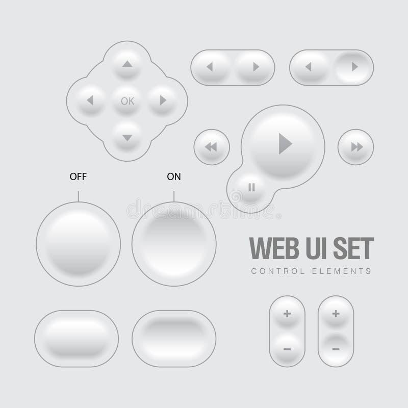 Lekkie sieci UI elementów projekta szarość. ilustracji
