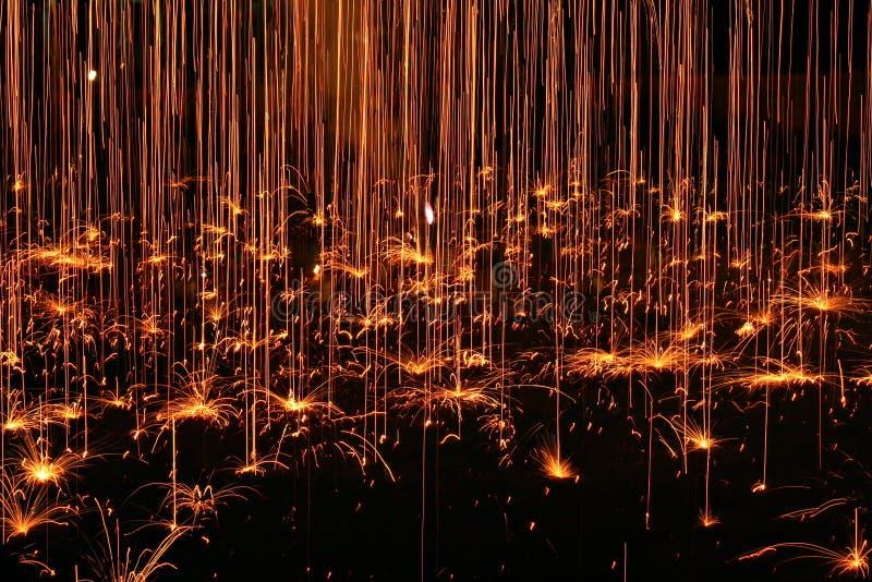lekkiego deszczu sparkler obraz royalty free