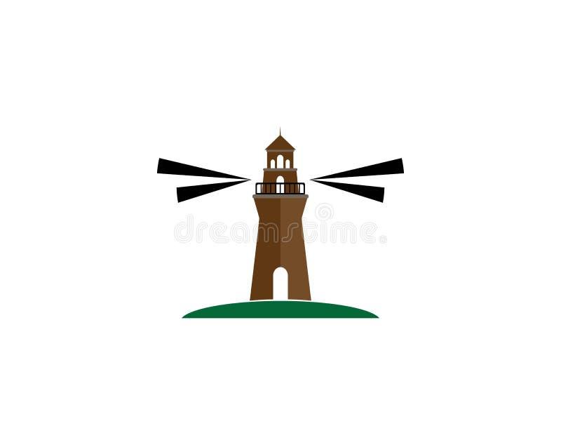 Lekkiego domu loga szablon ilustracja wektor