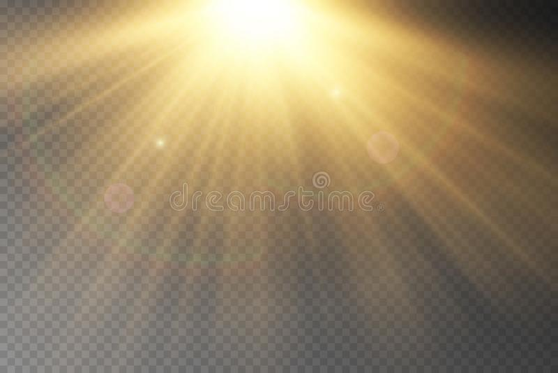 Lekkiego racy specjalny skutek z promieniami światło obrazy royalty free