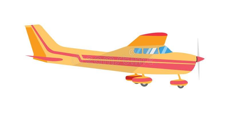 Lekkiego samolotu pojedynczy śmigło ilustracja wektor
